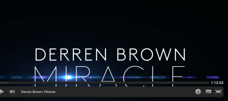 """Derren Brown's """"Miracles"""" Zoom-Out"""